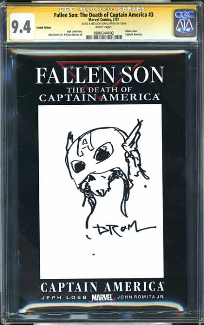 CGC Graded Comics - Fallen Son: The Death of Captain America #3 (CGC) - Fallen Son - Captain America - Jeph Loeb - Marvel Comics - Deth Of Captain
