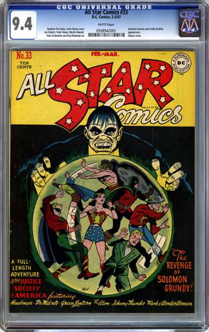 CGC Graded Comics - All Star Comics #33 (CGC)