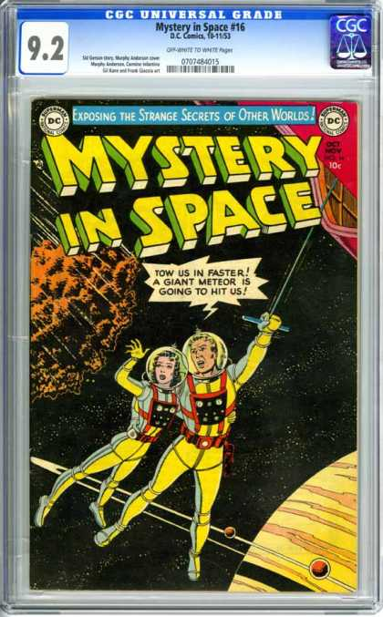CGC Graded Comics - Mystery in Space #16 (CGC) - Man - Woman - Spacesuits - Meteor - Planet