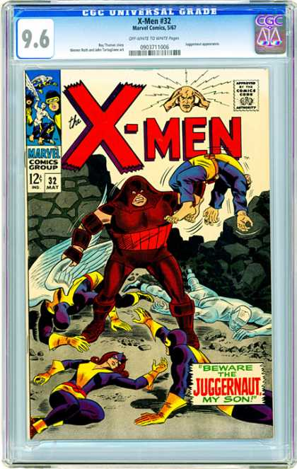 CGC Graded Comics - X-Men #32 (CGC) - The X-men - Juggernaut - Beware - 96 - My Son
