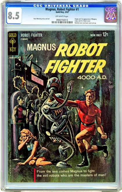 CGC Graded Comics - Magnus, Robot Fighter #1 (CGC) - Magnus - Robot - Woman - Machines - Red Suit