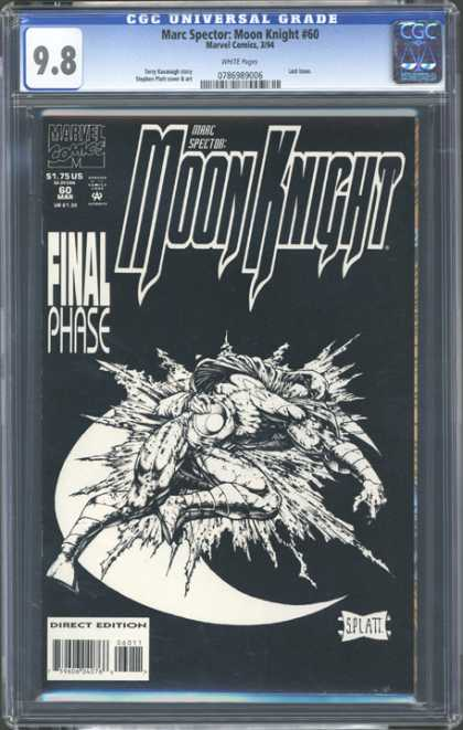CGC Graded Comics - Marc Spector Moon Knight #60 (CGC) - Alien - Monster - Hurt - Sleeping - Fighter