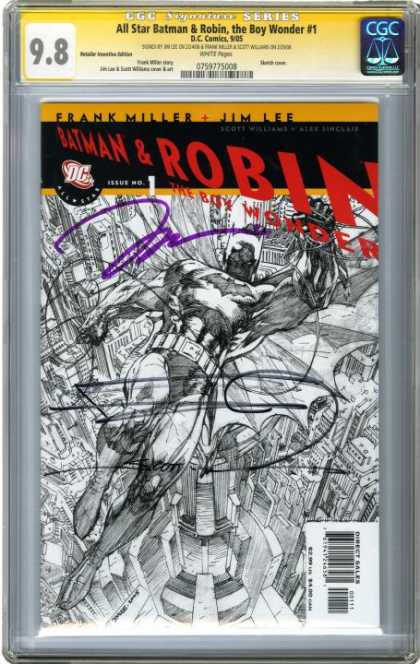 CGC Graded Comics - All Star Batman & Robin, the Boy Wonder #1 (CGC) - Batman - Robin Hood - City - Fly - Woner