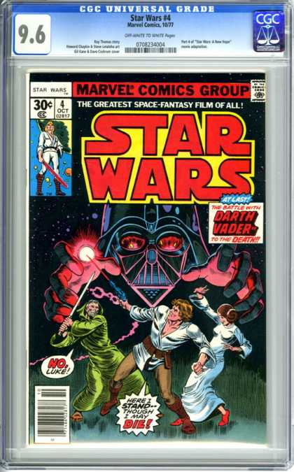 CGC Graded Comics - Star Wars #4 (CGC) - Marvel Comics - Darth Vader - Luke - 4 October - Space Fantasy