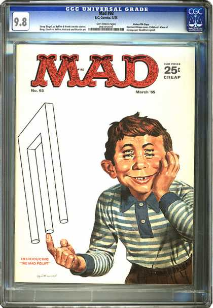 CGC Graded Comics - Mad #93 (CGC) - Whats Up With This Guy Anyway - Im Seeing Triple - What Can You Balance - Still Waiting On The Tooth Fairy - Introducingwho Again