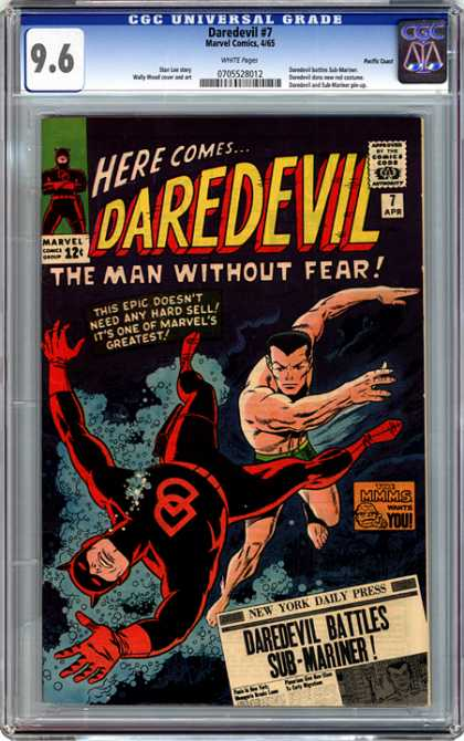 CGC Graded Comics - Daredevil #7 (CGC) - The Man Without Fear - The Epic Deoent Need Any Hard Sell - It Is One Of The Marvels Greatest - Dare Devil Battles - Sub-mariner