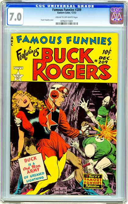 CGC Graded Comics - Famous Funnies #209 (CGC) - Famous Funnies - Buck Rogers - One Man Army - Greased Lightning - Shooting