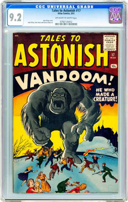 CGC Graded Comics - Tales to Astonish #17 (CGC) - Atlas Comics - Tales To Astonish - Approved By The Comics Code Authority - Vandoom - He Who Made A Creature