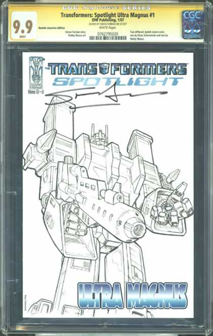 CGC Graded Comics - Transformers: Spotlight Ultra Magnus #1 (CGC) - Drawing - Transformers - Sketch - Robot - Machines
