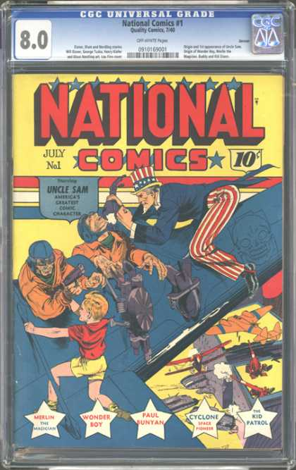 CGC Graded Comics - National Comics #1 (CGC)