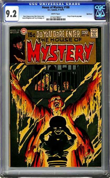 CGC Graded Comics - House of Mystery #188 (CGC) - House Of Mystery - Cain - Horror Comics - Dc - Terror Tales