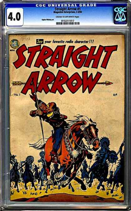 CGC Graded Comics - Straight Arrow #1 (CGC)