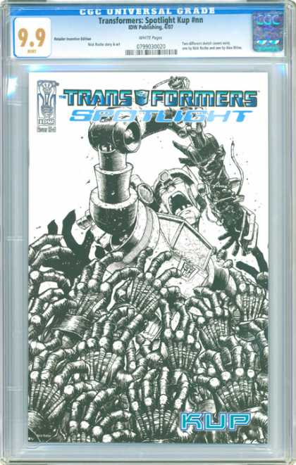 CGC Graded Comics - Transformers: Spotlight Kup #nn (CGC) - Transformers - Spotlight - 99 - Idw Publishing - Machine