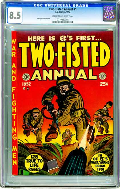 CGC Graded Comics - Two-Fisted Annual #1 (CGC) - Here Is Eds Firsttwo-fisted Annual - Soldier - Gun - Bullet Shot - Combat