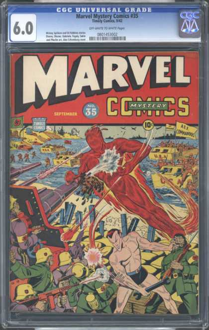 CGC Graded Comics - Marvel Mystery Comics #35 (CGC) - Marvel - September - Guns - Wrench - 10 Cents