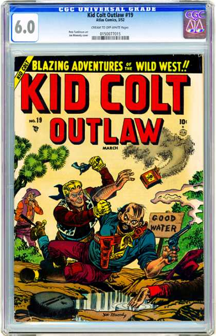 CGC Graded Comics - Kid Cold Outlaw #19 (CGC) - Cowboys - Gun - Water - Poison - Trees