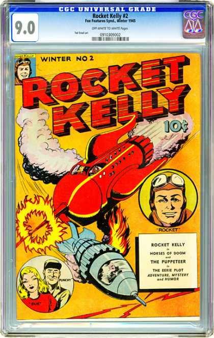 CGC Graded Comics - Rocket Kelly #2 (CGC) - Rocket - Kelly - Smoke - Flying - Cgc