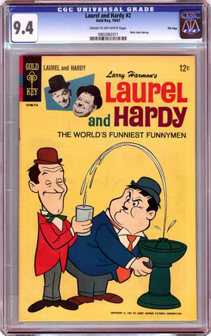 CGC Graded Comics - Laurel and Hardy #2 (CGC) - Laurel And Hardy - The Worlds Funniest Funnymen - Waterfoutain - Cup - Two Men