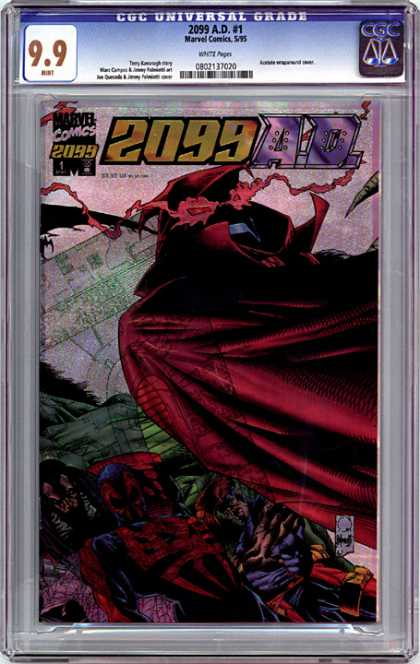 CGC Graded Comics - 2099 A.D. #1 (CGC) - Marvel Comics - Long Red Cape - Red Glowing Eyes - Laser - Masked