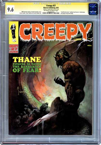 CGC Graded Comics - Creepy #27 (CGC) - Creepy - Thane - The Barbarian Of Fear - Blood - Battle
