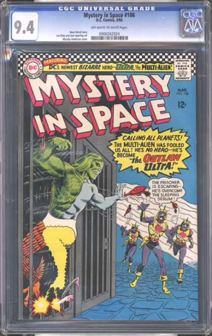 CGC Graded Comics - Mystery in Space #106 (CGC) - Dc - Superman - National Comics - Approved By The Comics Code Authority - Mystery In Space