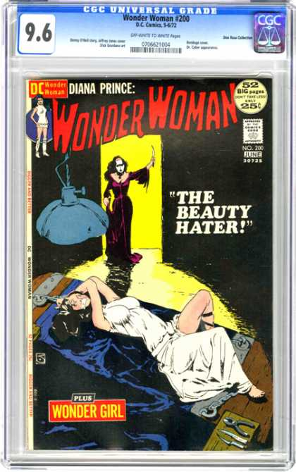 CGC Graded Comics - Wonder Woman #200 (CGC) - Wonder Woman - Diana Prince - The Beauty Hater - Wonder Girl - White Mask