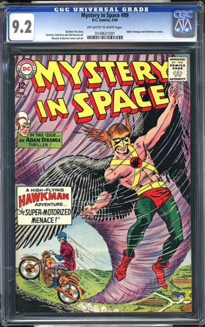 CGC Graded Comics - Mystery in Space #89 (CGC) - Adam Strange - Hawkman - Mystery In Space - Superman National Comics - Approved By The Comics Code