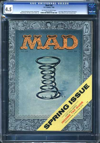 CGC Graded Comics - Mad #28 (CGC) - Mad - Spring - Income Tax Guide - Deductions - Cheating