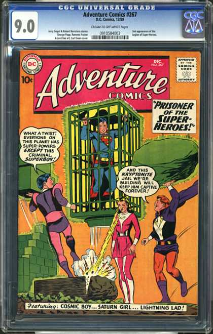 CGC Graded Comics - Adventure Comics #267 (CGC) - Superman - Cell - Vars - Rock - Girl