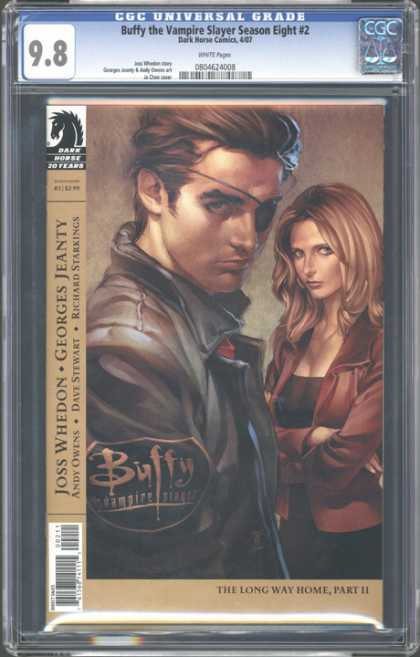 CGC Graded Comics - Buffy the Vampire Slayer Season Eight #2 (CGC) - Eye Patch - Leather Jacket - Buffy - Graded - Nine Point Eight