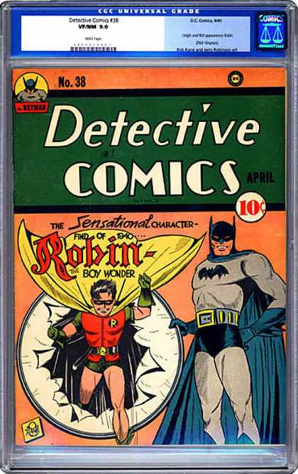 CGC Graded Comics - Detective Comics #38 (CGC) - Robin - April - Batman - Sensational Character - 1940