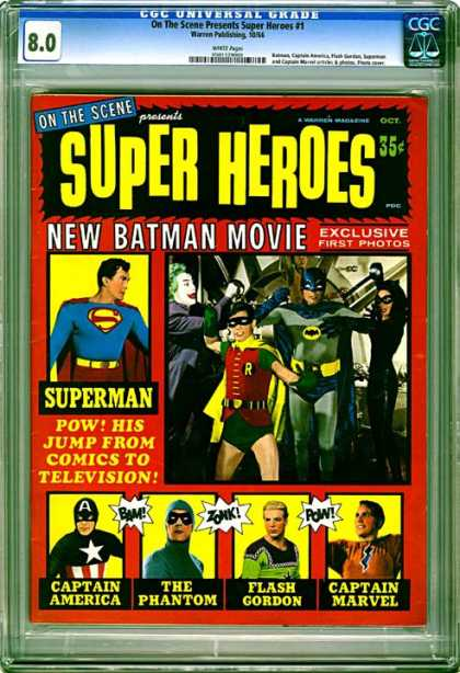 CGC Graded Comics - On The Scene Presents Super Heroes #1 (CGC)