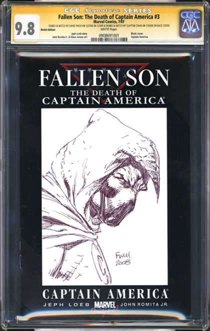 CGC Graded Comics - Fallen Son: The Death of Captain America #3 (CGC) - Marvel - Fallen Son - The Death Of Captain America - Jeph Loeb - John Romita Jr
