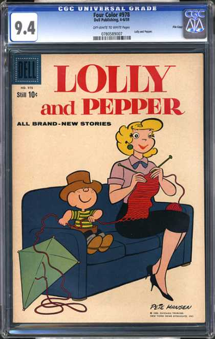 CGC Graded Comics - Four Color #978 (CGC) - Lolly And Pepper - Pete Hansen - Knitting - Boy - Kite