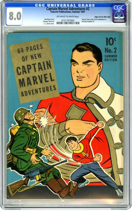 CGC Graded Comics - Captain Marvel Adventures #2 (CGC)