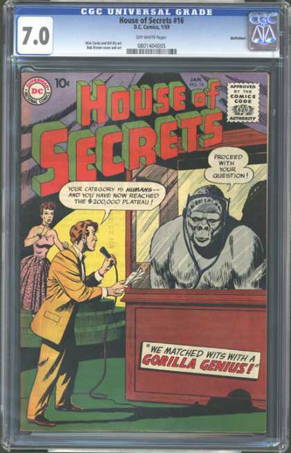 CGC Graded Comics - House of Secrets #16 (CGC)