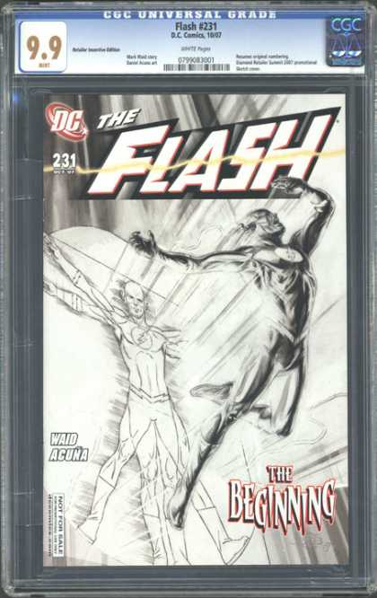 CGC Graded Comics - Flash #231 (CGC) - Dc - Flash - Dccomics - The Beggining - Waid Acuna