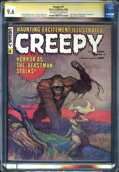 CGC Graded Comics - Creepy #11 (CGC) - The Beastman - Primate - Blonde Woman - Fallen Tree - Horror