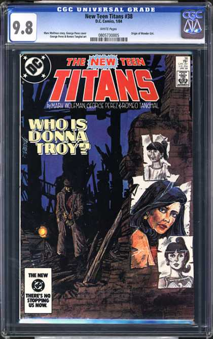 CGC Graded Comics - New Teen Titans #38 (CGC) - The New Teen Titans - Who Is Donna Troy - Man - Poster - Ruins