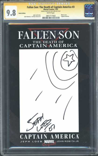CGC Graded Comics - Fallen Son: The Death of Captain America #3 (CGC) - Fallen Son - The Death Of Captain America - Marvel Comics - Jeph Loeb Signed - John Romita Jr