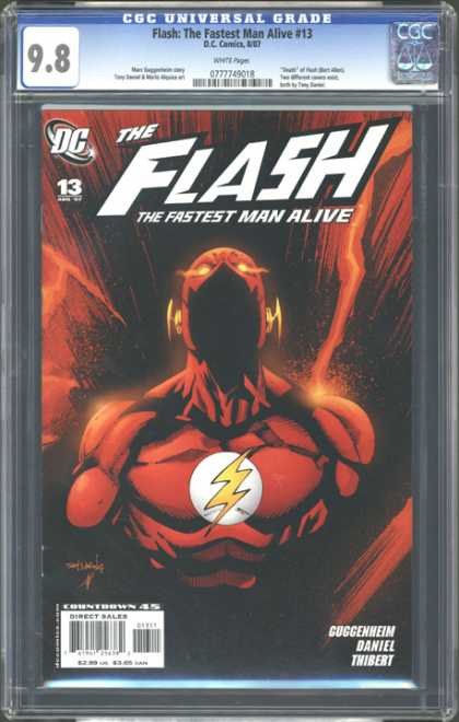 CGC Graded Comics - Flash: The Fastest Man Alive #13 (CGC) - Lightening Bolt Patch - Thibert - Lights On Head - Red Appearance - The Fastest Man Alive