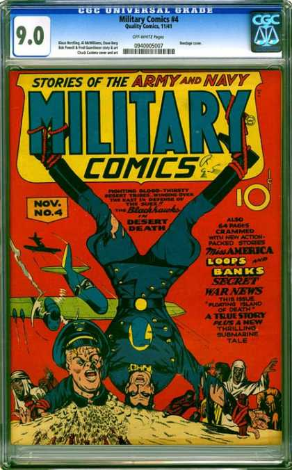 CGC Graded Comics - Military Comics #4 (CGC) - War News - Miss America - Military - Desert - Submarine