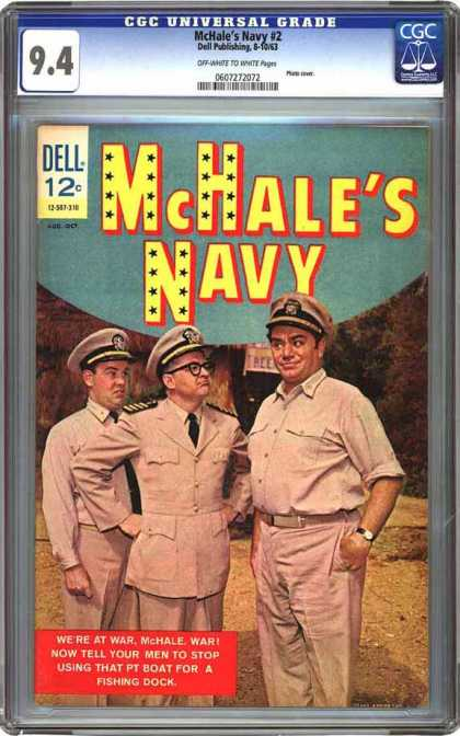 CGC Graded Comics - McHale's Navy #2 (CGC) - Mchales Navy - Dell Comics - Tv Series - Cgc Universal Grade 94 - Pt Boat For A Dock