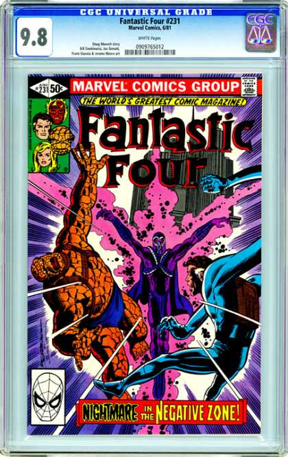 CGC Graded Comics - Fantastic Four #231 (CGC) - Nightmare In The Negative Zone - The Thing - Spiderman Face - Purple Energy - Fantastic Four