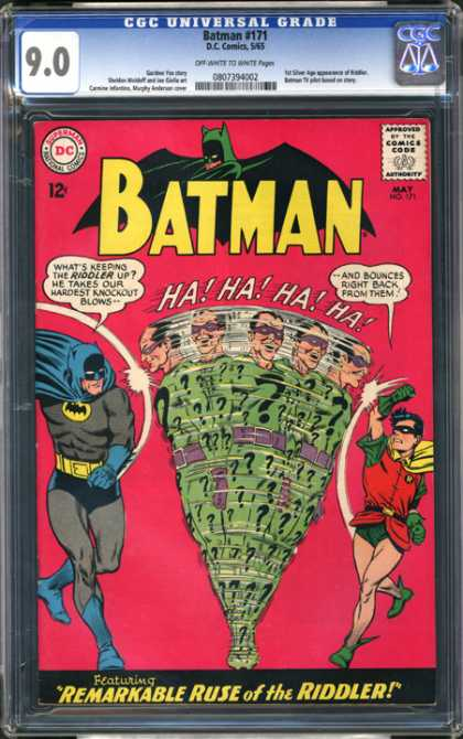 CGC Graded Comics - Batman #171 (CGC) - Robin - The Riddler - Remarkable Ruse - Dc - Ha Ha