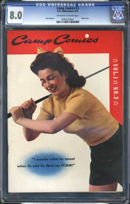 CGC Graded Comics - Camp Comics #3 (CGC) - Camp Comic - Vol1 No3 - I Wonder What He Meant When He Said He Liked My Form - Golf - Yellow Ribbon