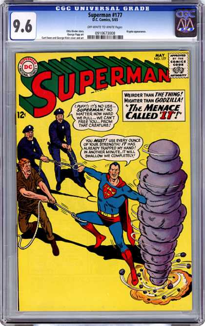 CGC Graded Comics - Superman #177 (CGC) - Superman - Police - The Menace Called It - Rope - Chain