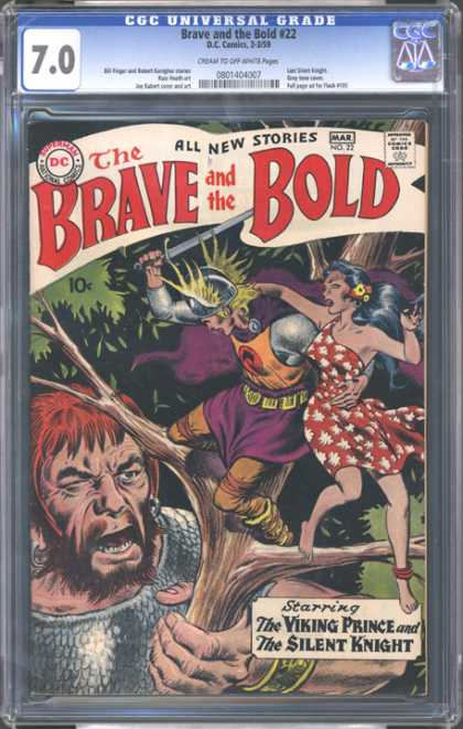 CGC Graded Comics - Brave and the Bold #22 (CGC) - Brave And The Bold - Dc Comics - Viking Prince - Silent Knight - Tree