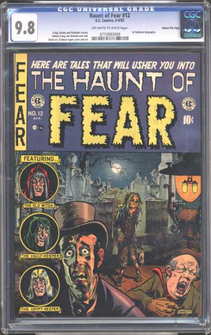 CGC Graded Comics - Haunt of Fear #12 (CGC) - The Old Witch - The Vault - Keeper - The Crypt - Keeper - Fear - Moon Light