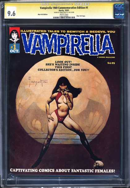 CGC Graded Comics - Vampirella 1969 Commemorative Edition #1 (CGC) - 1 Oct - 495 - Illustrated Tales To Bewitch U0026 Bedevil You - Vampire